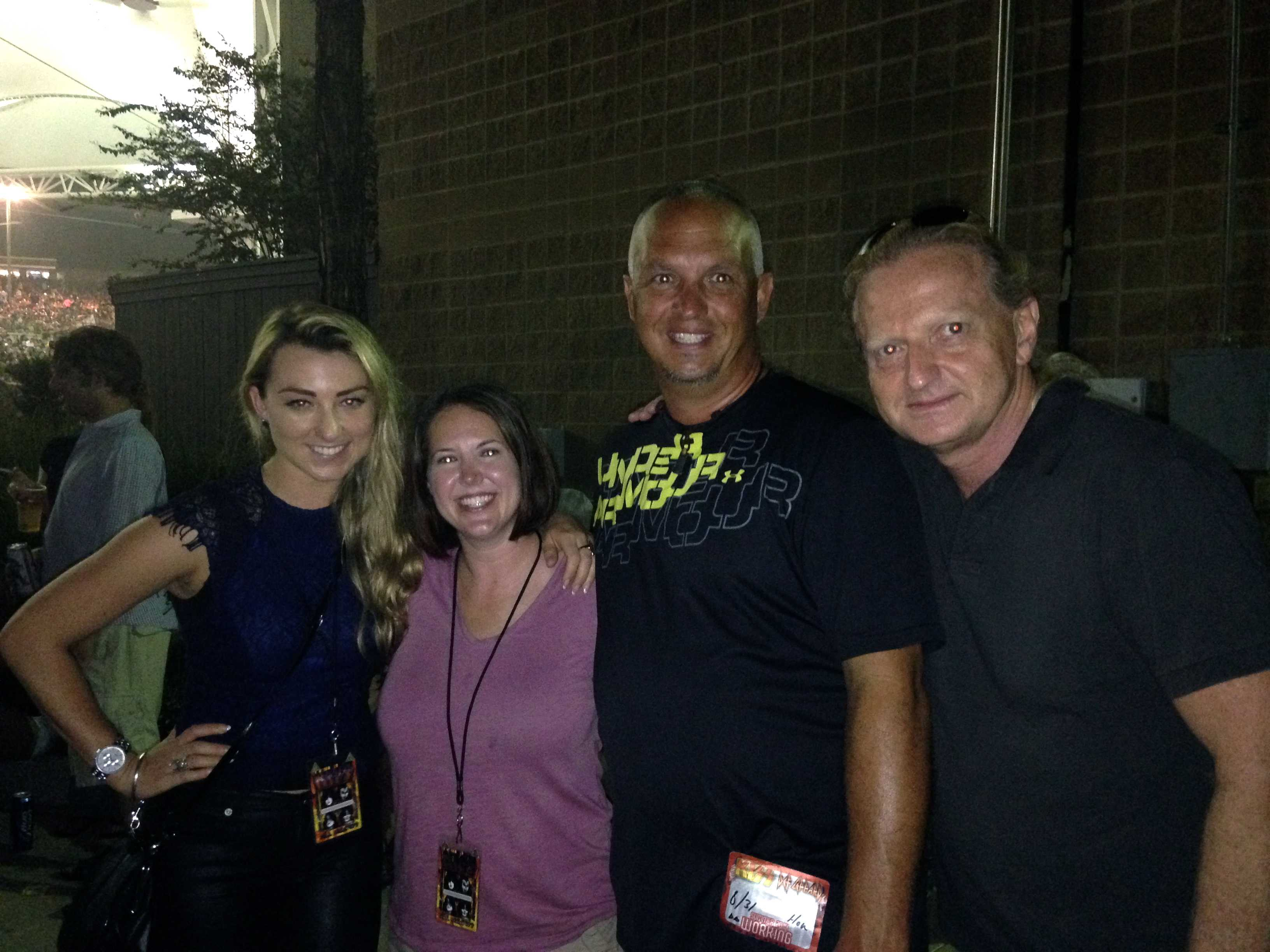 4. Hayley, Diane, Brian and David (if he doesn't gate-keep this one, I know his love of flash photography)