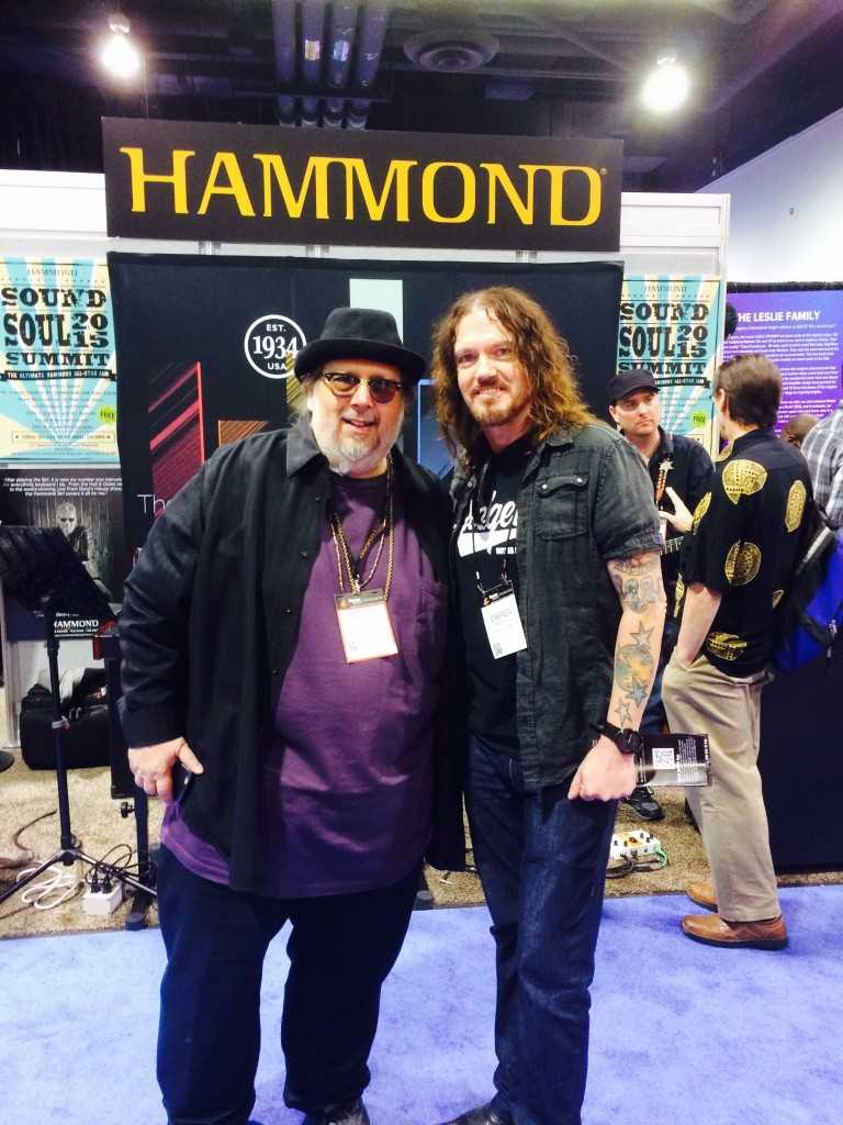 With Scott May at the Hammond Booth. You Rule!!