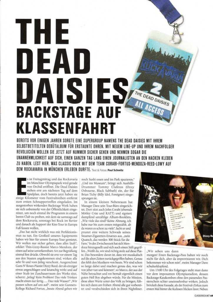 Classic Rock Germany The Dead Daisies