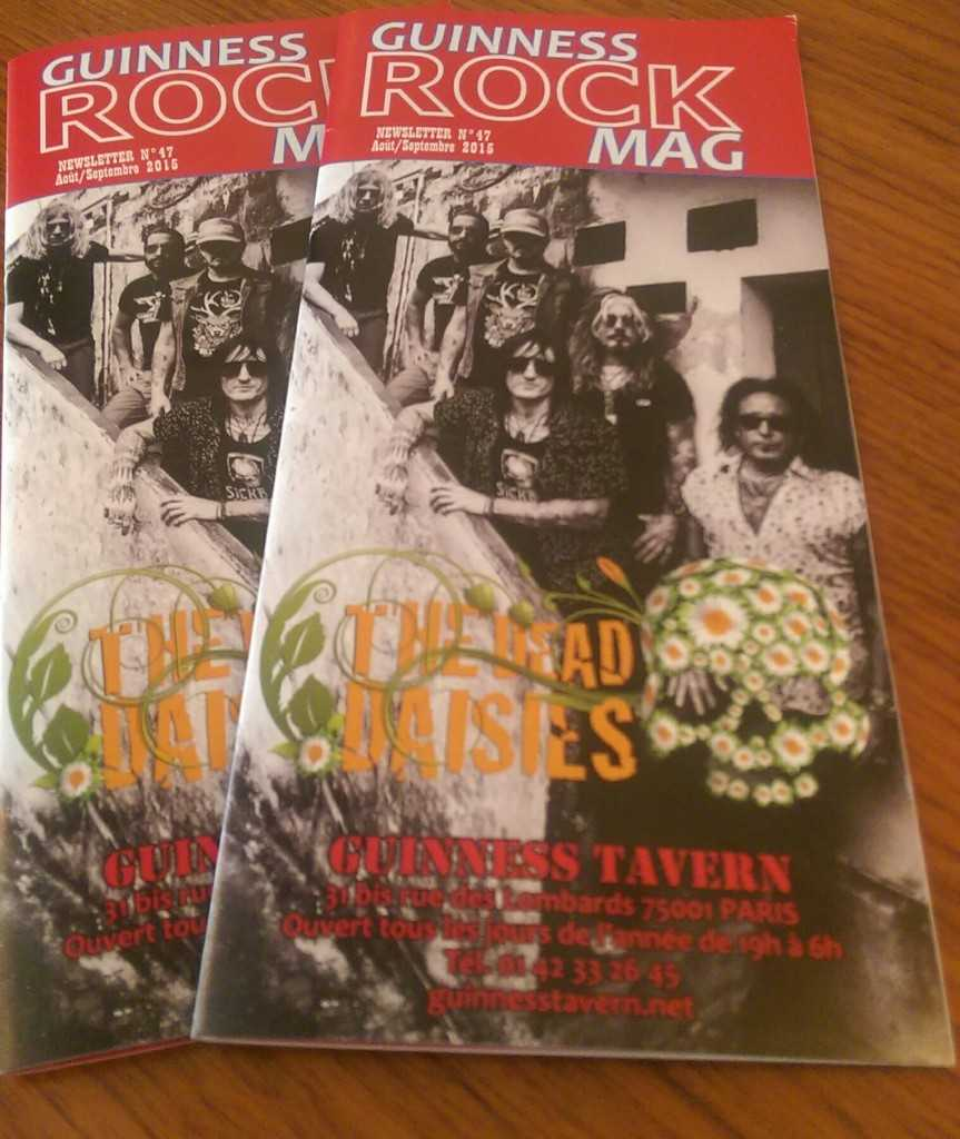 TDD Guiness rock mag